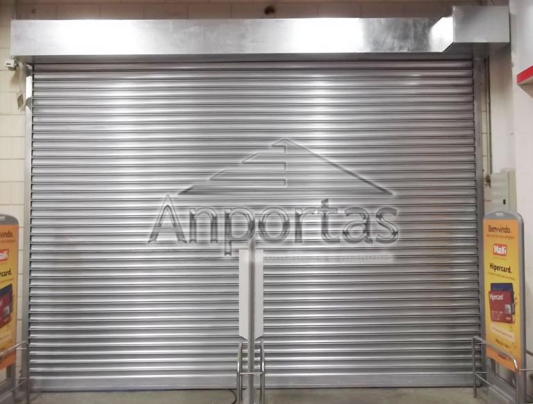 Porta de Enrolar Automática de Aço – Anportas